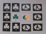Ireland rugby glitter tattoo set including 30 stencils + 2 glitter colours + glue  Irish   children  boys  girls 6 Nations  World Cup 2015